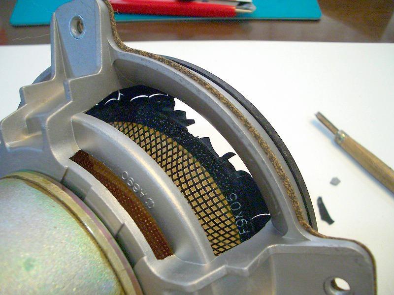劣化したKenwood LS-X9メインスピーカーユニット裏側からの画像